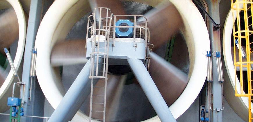 Вентилятор с вертикальным положением рабочего колеса