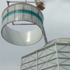 монтаж диффузора корпуса вентилятора градирни СК 400